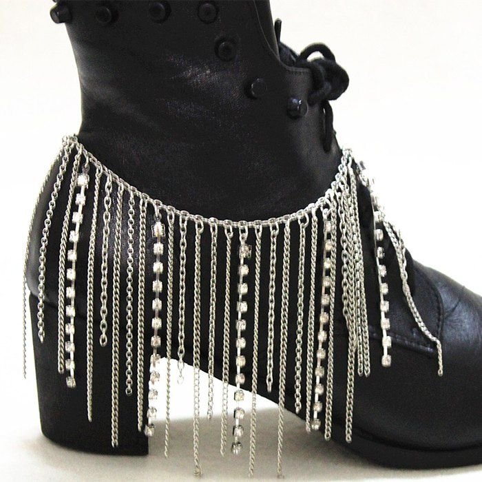 Stylish Rhinestone and Alloy Tassel Embellished Shoes Chain For Women #jewelry, #women, #men, #hats, #watches, #belts, #fashion