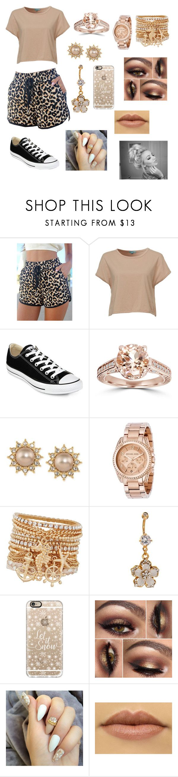 """Going to the gym girly style"" by naynayfamily ❤ liked on Polyvore featuring beauty, Mavi, Converse, Carolee, Michael Kors, ALDO and Casetify"