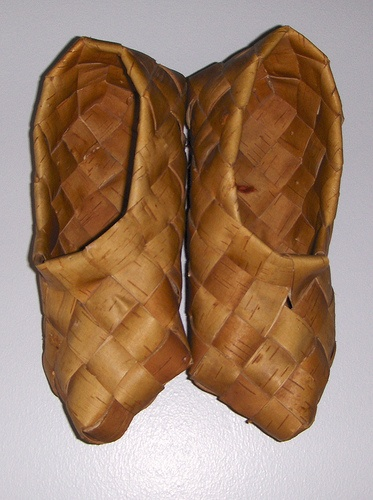 Traditional Finnish shoes made from birch bark by Vakuoli, via Flickr