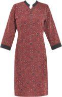 Buy Chidiyaa maroon cotton regular kurta Online, , LimeRoad