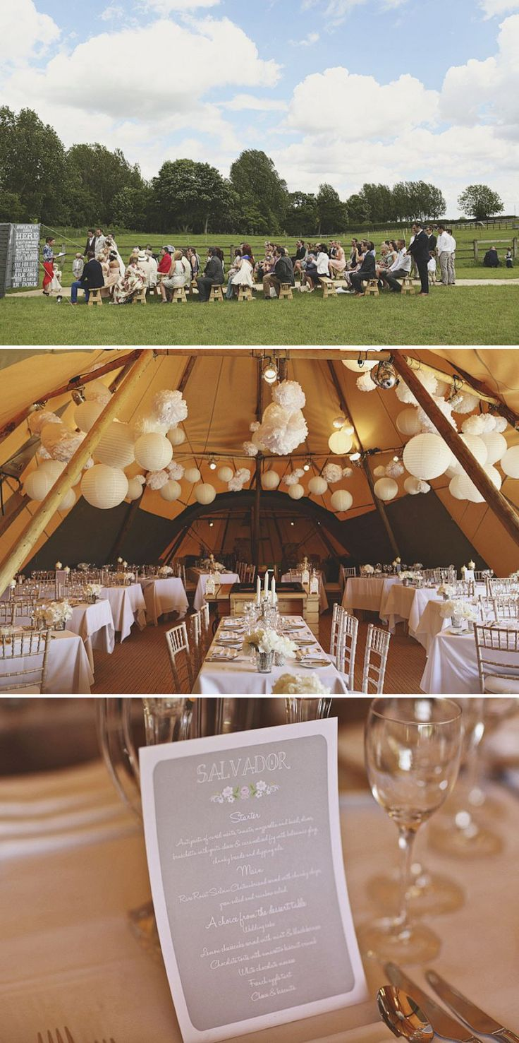An Elegant Outdoor Wedding With Papakata Teepees And Bride In Temperley Gown With Floral Crown And By Harriet Headpiece Images From York Place Studios And Film From York Place Films | Rock My Wedding