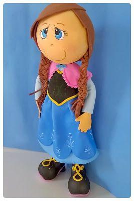 Sonho Mágico Festas: Fofucha Anna Frozen em eva 3D