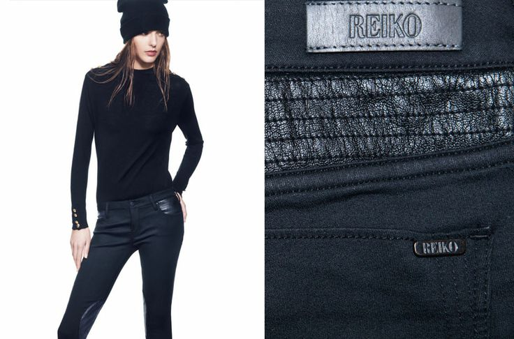 Nouvelle collection REIKO   Skinni MEIKA : bientôt disponible sur notre e-shop   Empiècements façon cuir matelassé, pour une allure motard féménisé.