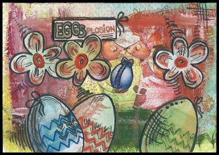 EGGSplosion velikonoční pohlednice/ Easter postcard