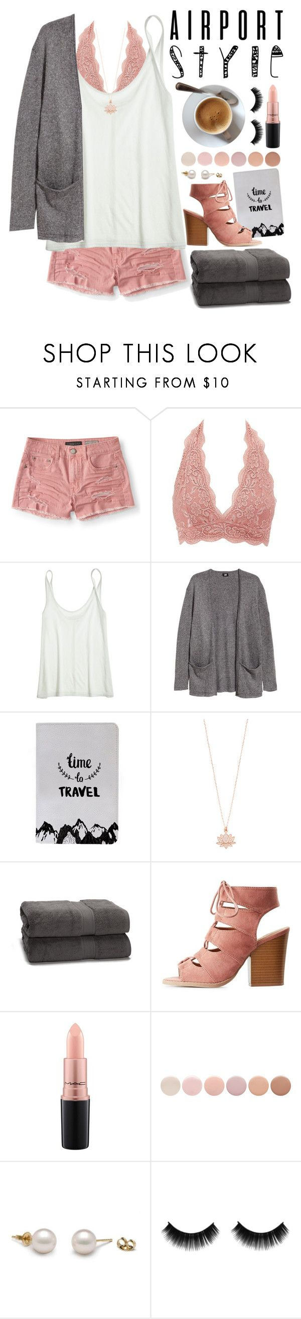 """Jet Set: Airport Style"" by bekah-04 ❤ liked on Polyvore featuring Aéropostale, Charlotte Russe, Calypso St. Barth, H&M, Accessorize, MAC Cosmetics and Deborah Lippmann"