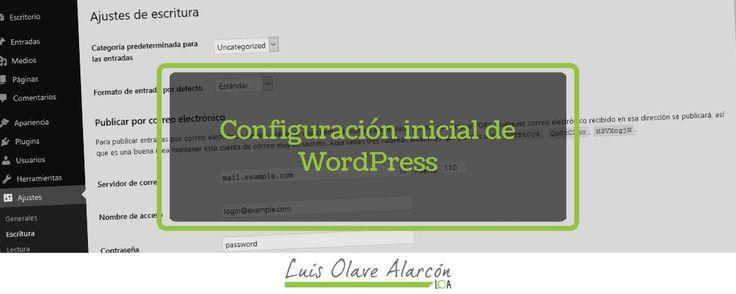 Configuración inicial de WordPress - luisolavea.xyz