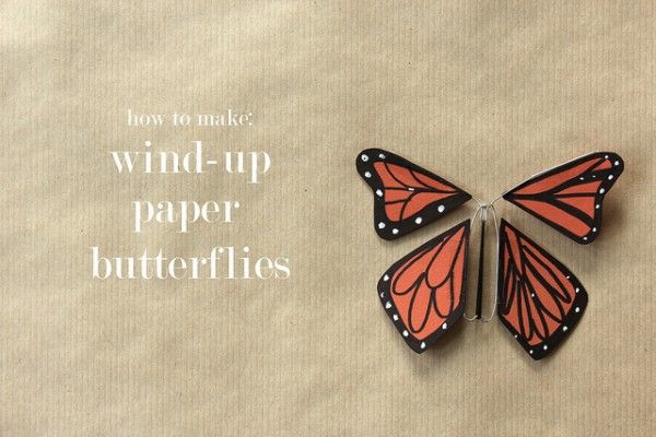 Wind-up Monarch butterflies . . . very timely for our household! (Click the link to go to tutorial.)