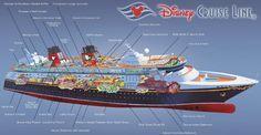 Disney Fantasy ship deck plan infographic diagram /  facilities location
