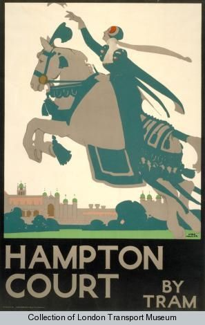 Hampton Court, by Fred Taylor, 1929 - Poster and Artwork collection online from the London Transport Museum