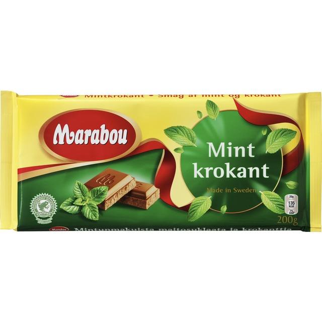 Marabou Mintkrokant - Milk Chocolate with Mint Crisp