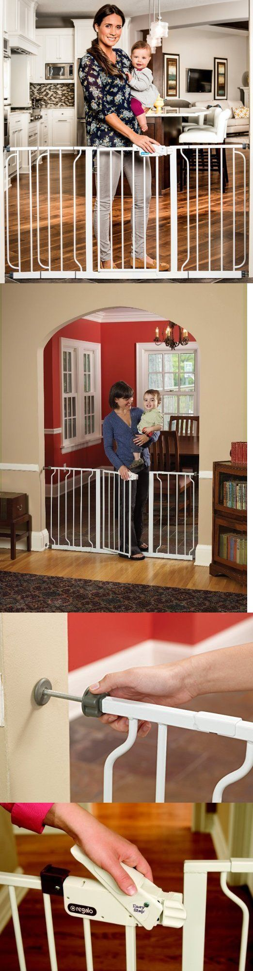 Fences and Exercise Pens 20748: Dog Gates For The House Extra Wide With Door Tall Pet Fence Adjustable Walk Thru -> BUY IT NOW ONLY: $89.95 on eBay!