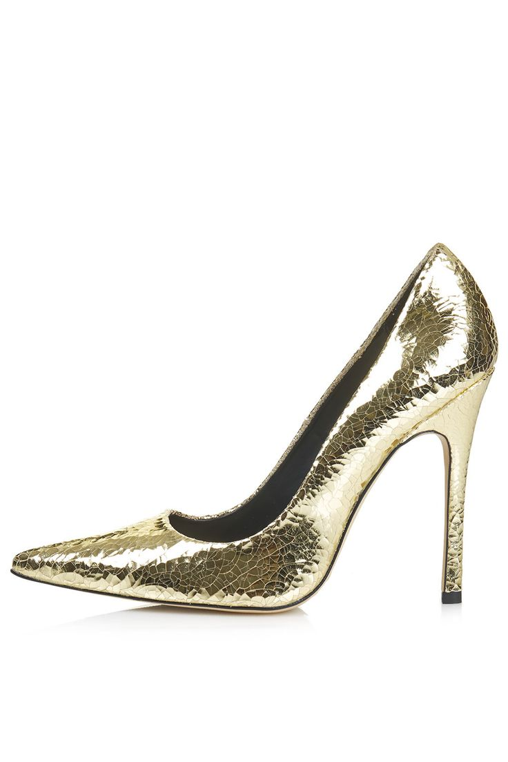 Topshop - Photo 1 of GALLOP Metallic Court Shoes