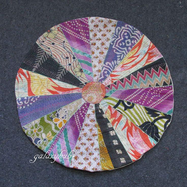99 best Kantha Round Floor Pillow images on Pinterest   Pillowcases ...