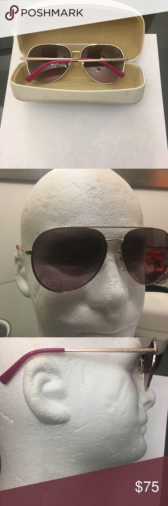 Michael Kors aviators woman sunglasses Michael Kors aviator sunglasses like new. case lil scuff up Michael Kors Accessories Glasses