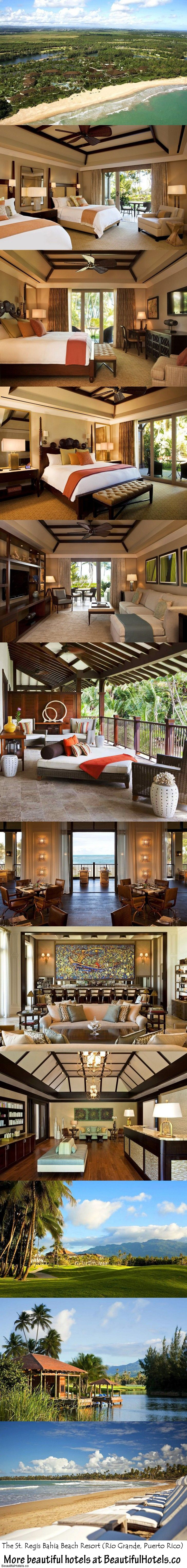 The St. Regis Bahia Beach Resort (Rio Grande, Puerto Rico) - keeping this in mind for our annual trip to Puerto Rico!