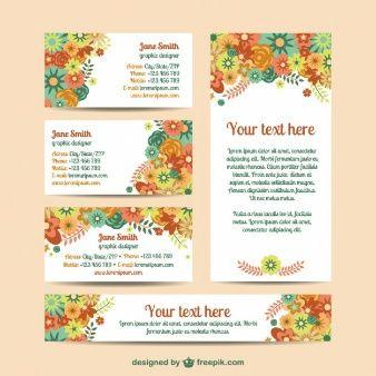 Plantilla floral de identidad corporativa para descarga gratuita