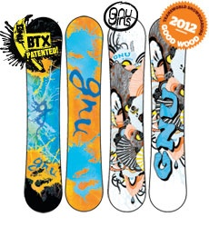GNU Snowboards - made in Washington State