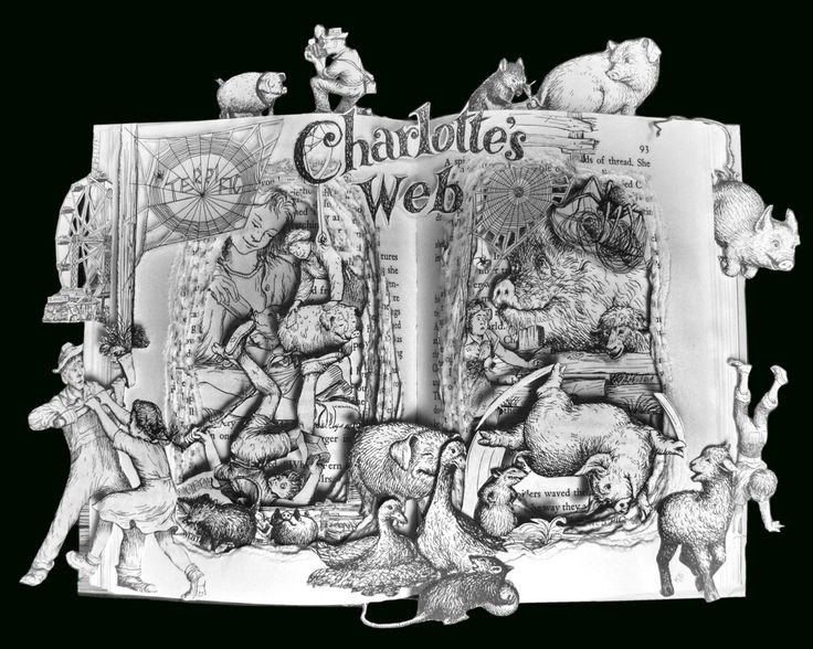 ArtfuLiving by Kelly Campbell Berry - My Book Sculpture: Charlotte's Web | Check out all of the Book Sculptures, just Beautiful!