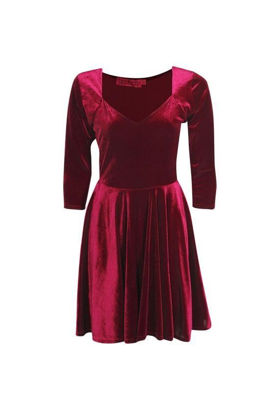 04c45e883c9b Velvet Sweetheart Neck Skater Dress