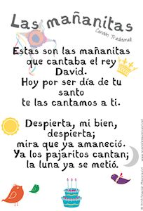 Free Download of Las Mañanitas from Music with Sara. Printable lyrics to sing along. http://www.spanishplayground.net/happy-birthday-song-in-spanish-printable-lyrics/