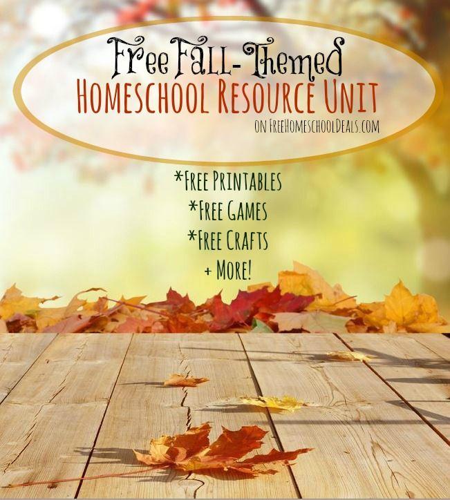Free Fall Homeschool Resource Unit: Homeschool Freebies including printables, unit studies, games, crafts, + More!