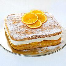 Pastel de queso y naranja
