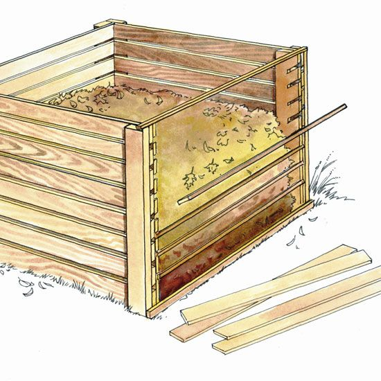 DIY Recycled, Wooden Compost Bin - DIY - MOTHER EARTH NEWS