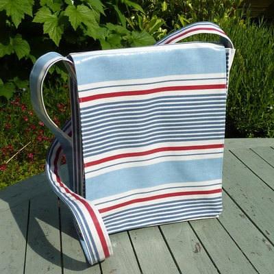 Messenger Style Oilcloth Bag - practical bag for summer