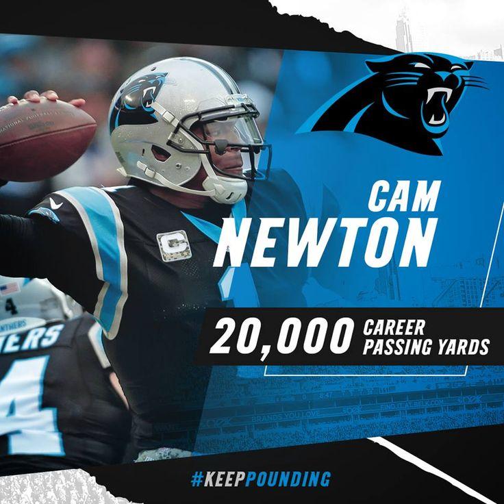 Cam Newton breaks the 20,000 yard mark.