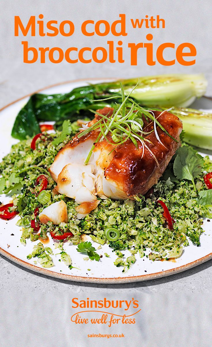 This quick and easy fish dish takes only 20 minutes to make. Replace your regular rice with Sainsbury's pre-packed brocolli rice for a healthier twist.