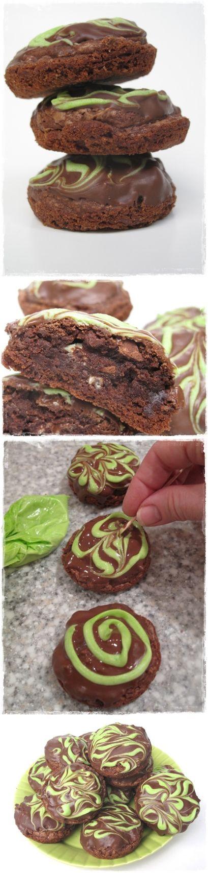 Chocolate Mint Truffle Brownie Bites