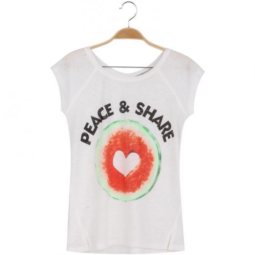 Peace & Share   #tshirt #watermelon #cute #festivaloutfit #fun #white #fashion #forwomen #glostory
