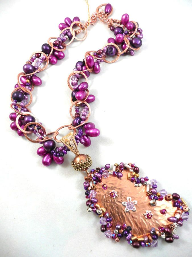 Copper and Purple - Jewelry creation by Madalynne Homme