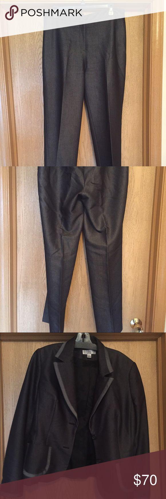 "Lena Gabrielle Pants Suit, Size 12 Dressy pants suit that has a denim look. The pants are 32"" and the suit is 62% viscose and 38% polyester. Lena Gabrielle Other"