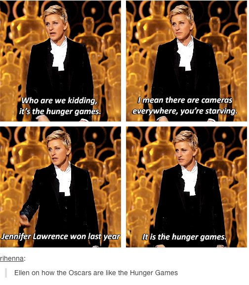 Ellen on how the Oscars are the Hunger Games