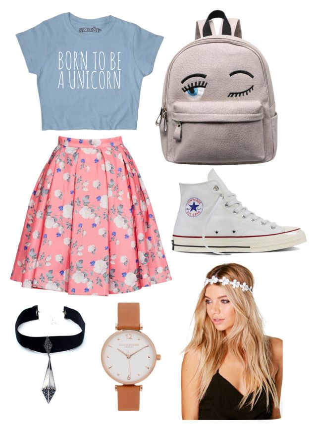 """Outfit #6 Casual"" by anaza1410 on Polyvore featuring moda, ERIN Erin Fetherston, Converse, Boohoo, Olivia Burton y Child Of Wild"