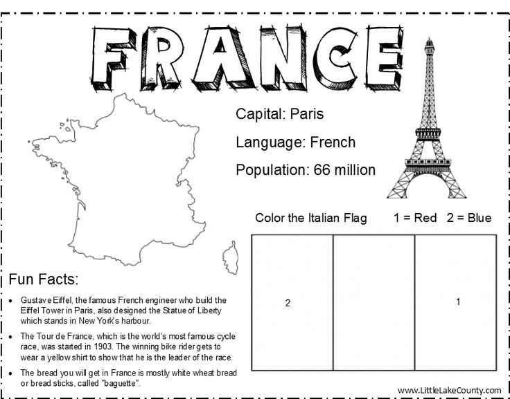 France Coloring Sheet   For World Thinking Day Preparations