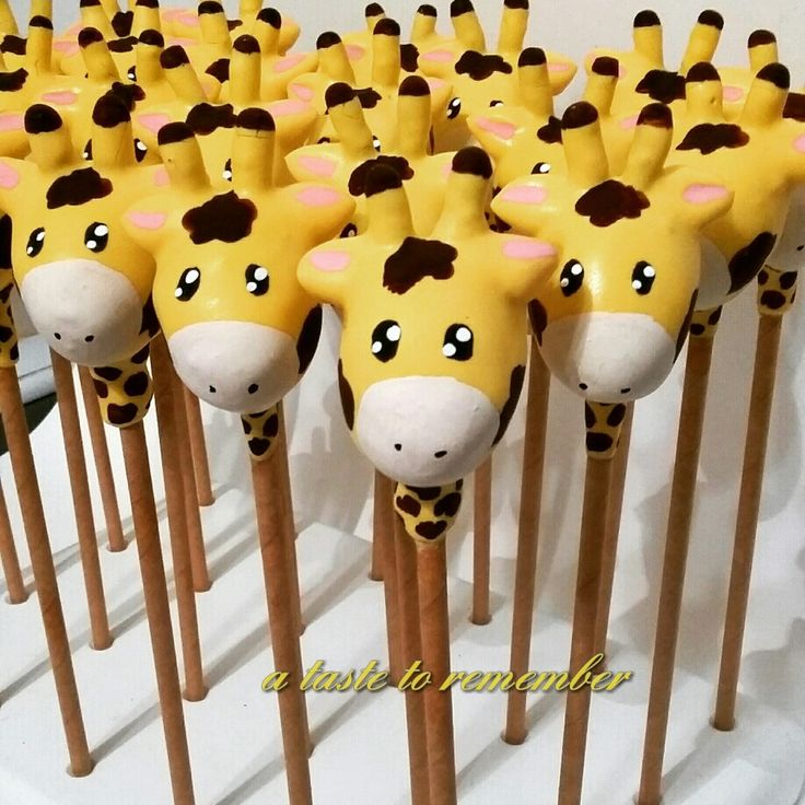 Giraffe cake pops                                                                                                                                                                                 More
