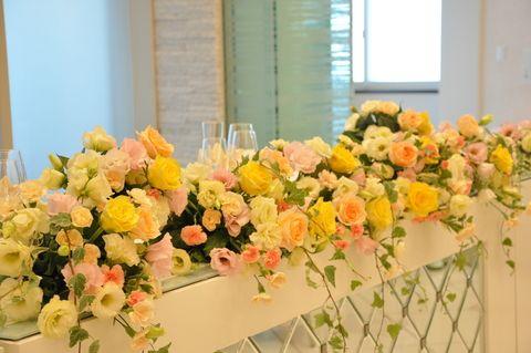 ビタミンカラーの装花 : ブライダルアルバム