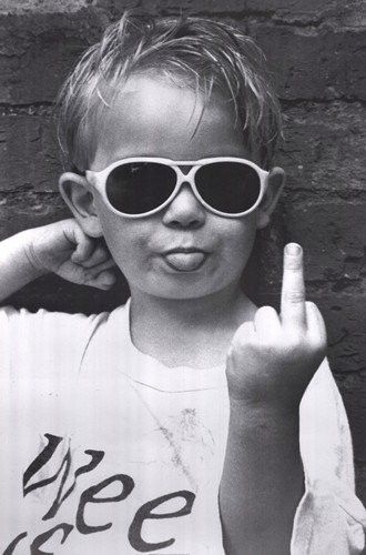 Some people just need a big fat Middle Finger lookin right at em to make em see sense