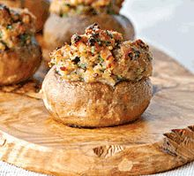 #Vegan stuffed mushrooms These were yummy! I didn't really measure the ingredients, but they still turned out good ;)