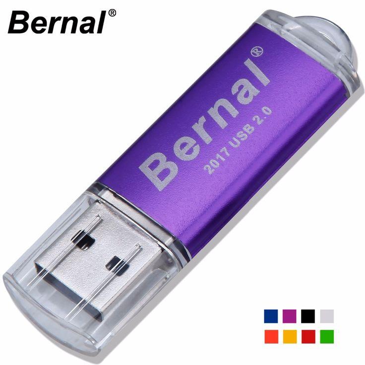 Bernal high speed USB FLASH DRIVE Disk Metal usb flash Memory stick USB PenDrive 64GB 32GB 16GB 8GB usb flash drives pen Drive