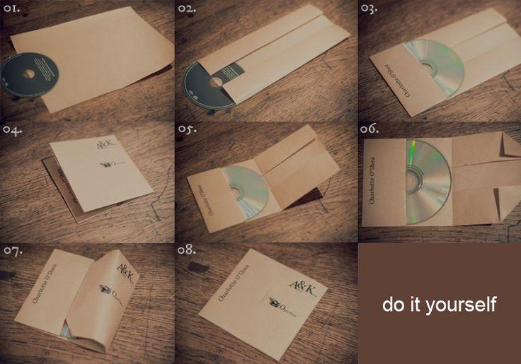 Einfach eine CD Hülle aus Papier falten