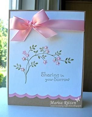 Simple Sympathy Card stampinup thoughtsprayer sympathycard
