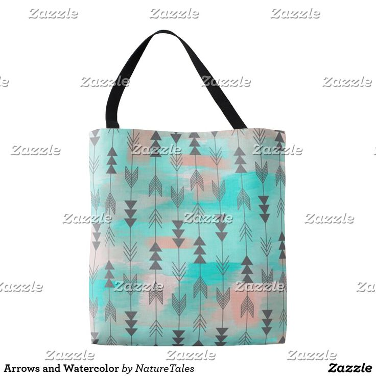 Arrows And Watercolor Tote Bag