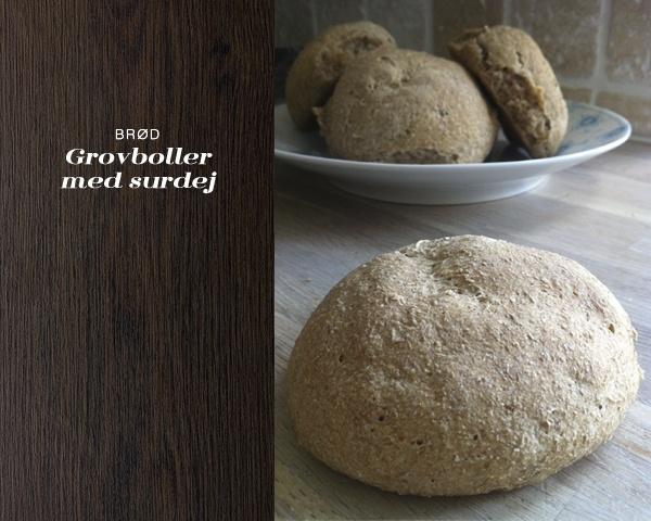 Grovboller af surdej  (recipe in Danish from Byguldahl.dk)