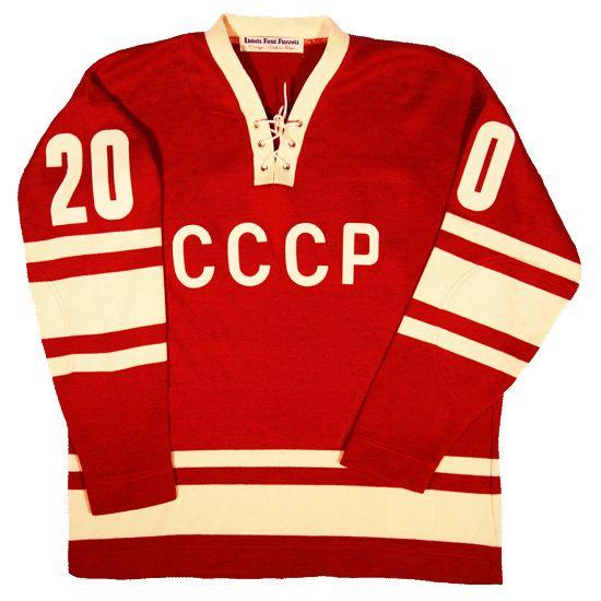 Soviet Union replica jersey circa 1972. Tretiak's famous #20 sweater in glorious Socialist red.