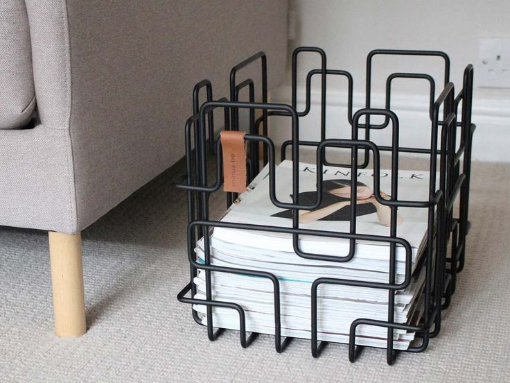 Block Basket storage unit in black photo by Funktion Alley