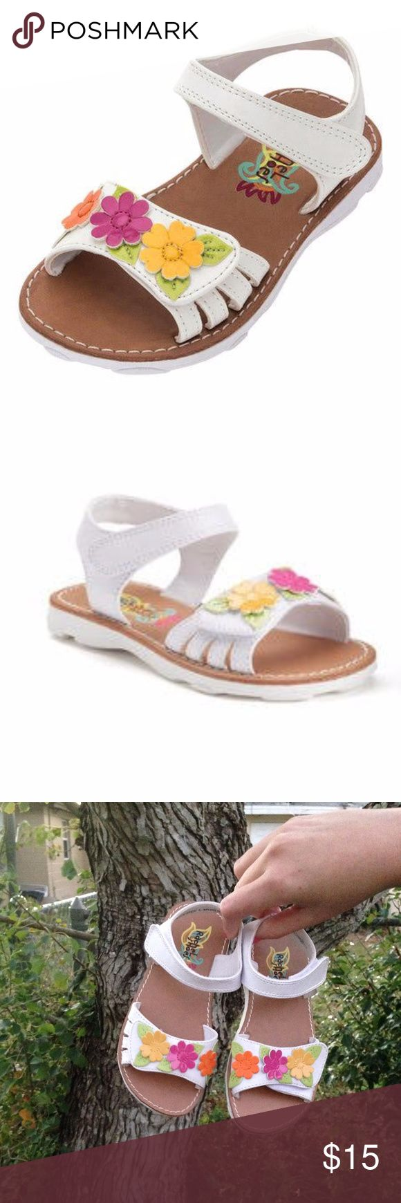 NWOT Rachel Shoes Floral Toddler Sandals NWOT Rachel Shoes Floral Toddler Sandals  New never worn sandals, these were only tried on once, adorable flowers on the toes  Size 10, 10M Rachel Shoes Shoes Sandals & Flip Flops