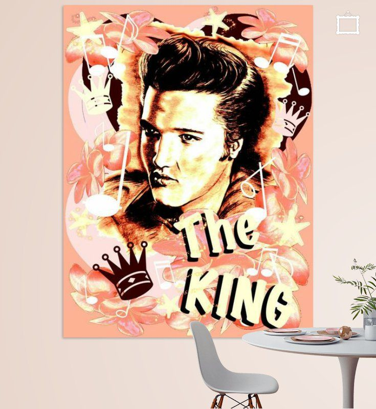 Elvis The King In Salmon-Rosé